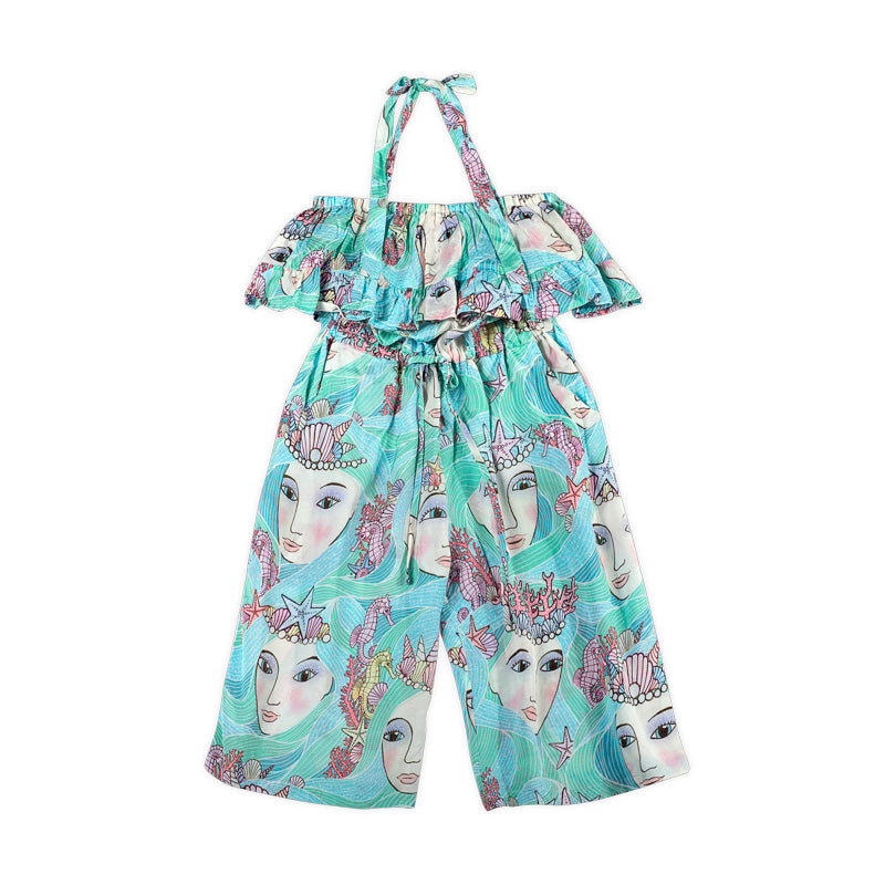 Frilled Romper - Mermaids