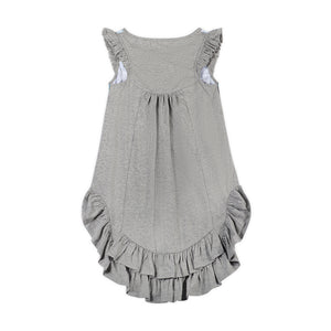 Frilled Bustle Dress - Rainbow River