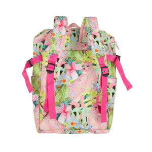 Compact Backpack - Pink Leopard