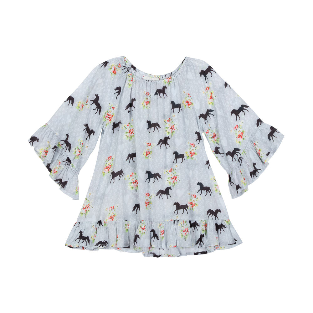 Frilled Cover Up - Spring Horse