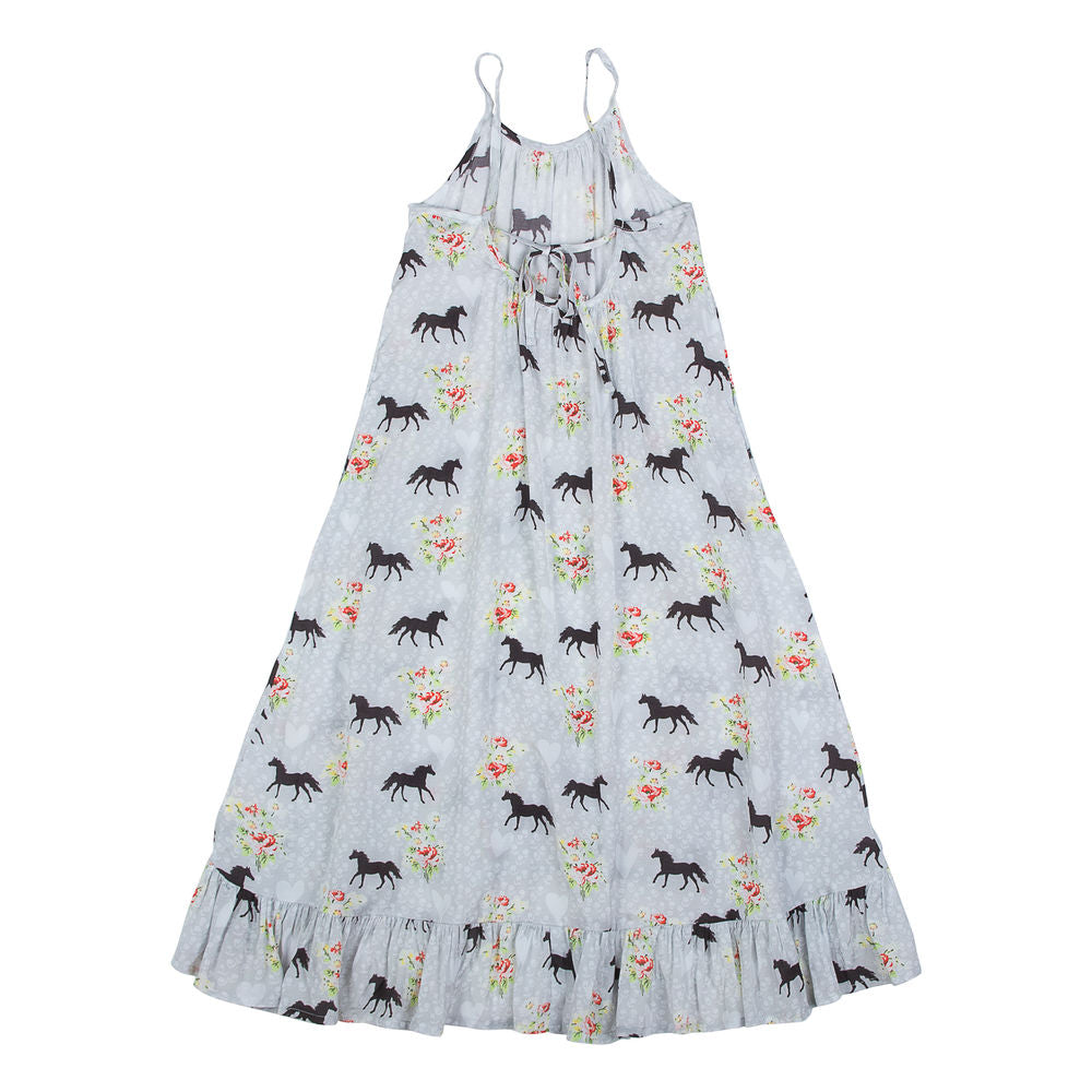 Frilled Maxi Dress - Spring Horse