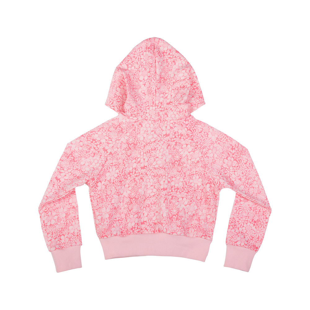 Cropped Hoodie - Hand Drawn Flowers