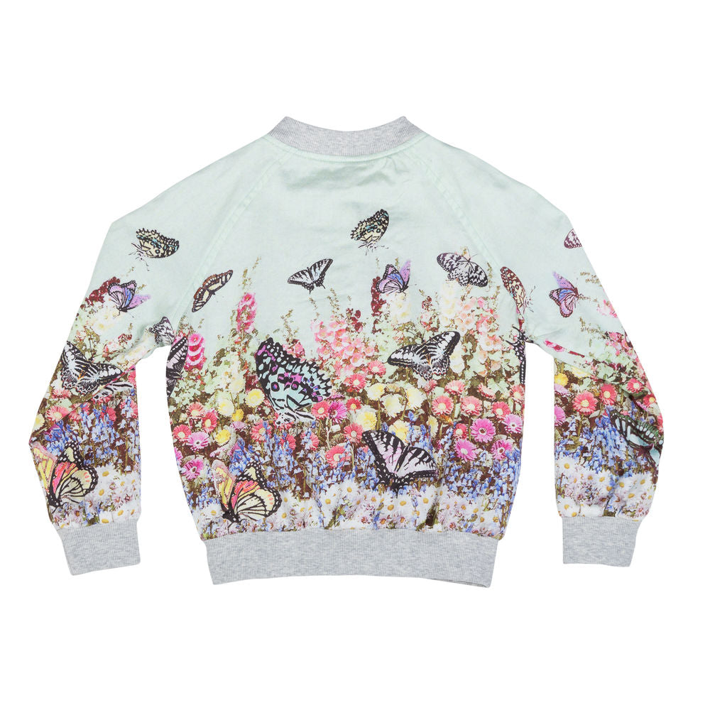 Light Weight Bomber Jacket - Flower Garden