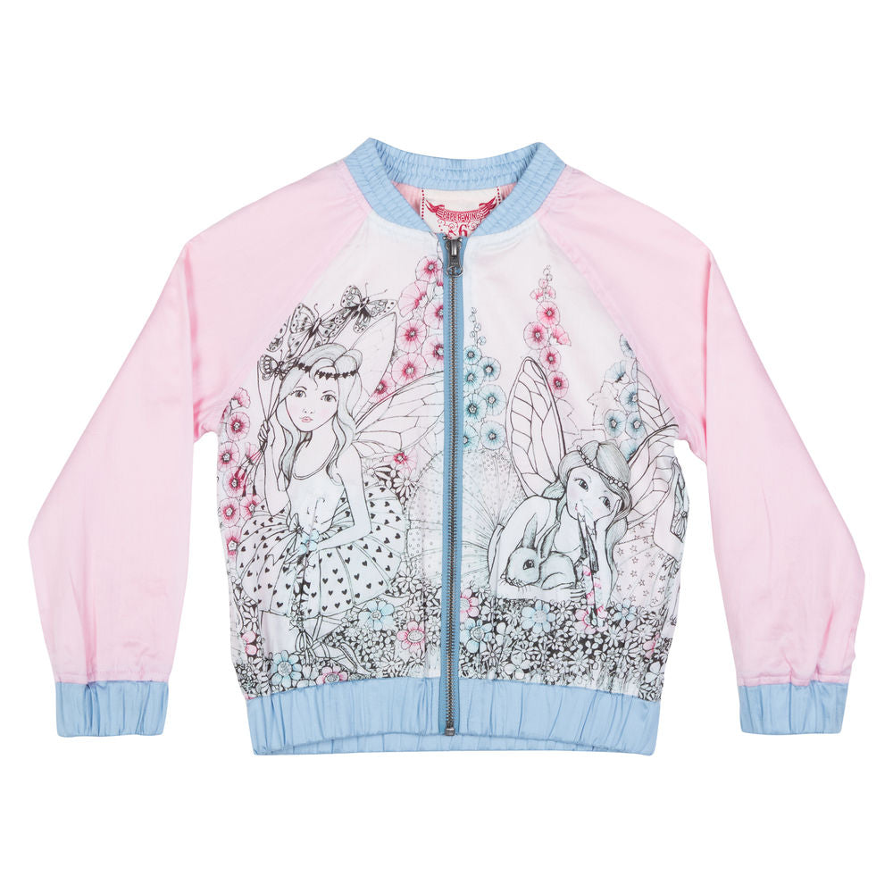 Light Weight Bomber Jacket - Garden Fairies