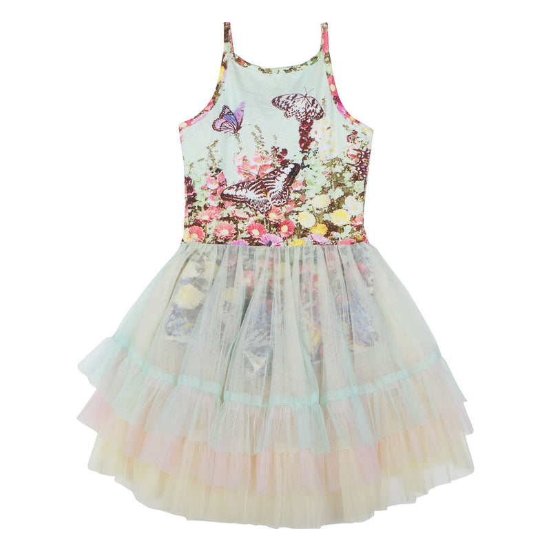 Leotard w/ Layered Frill Skirt - Flower Garden