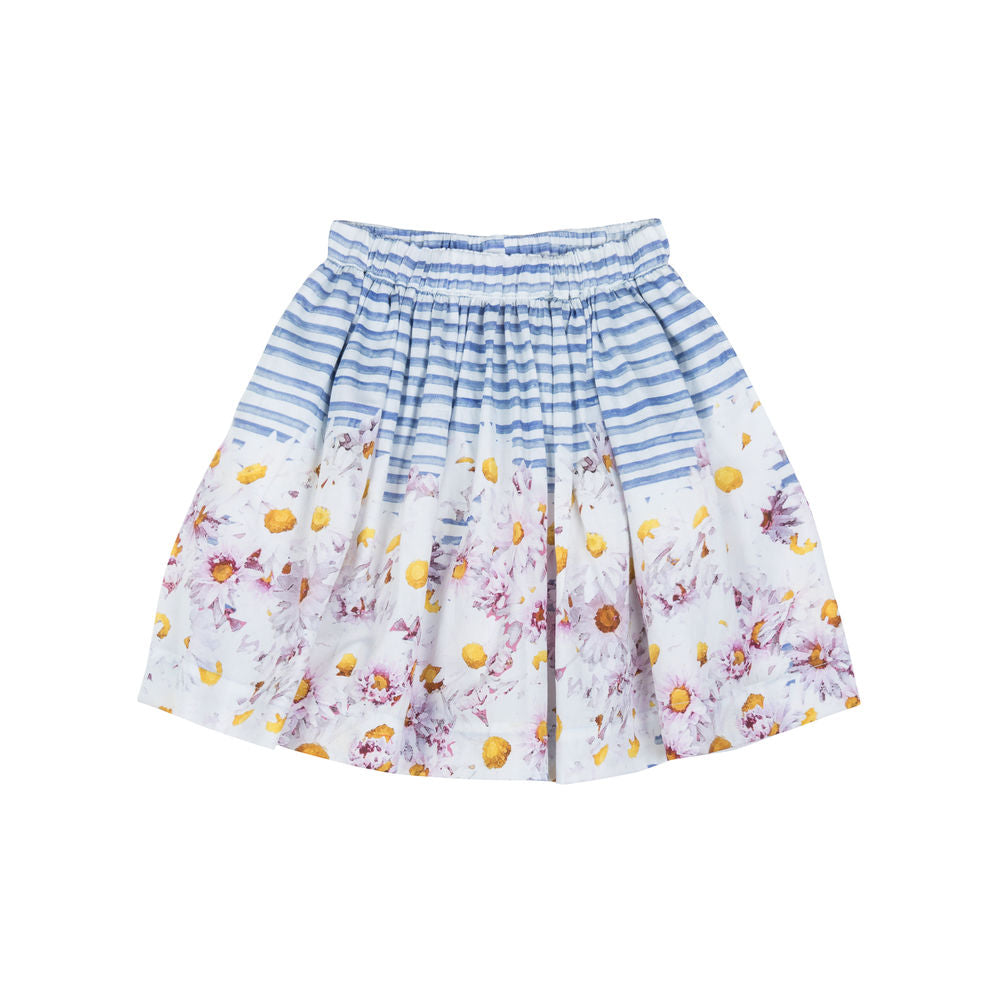 Gathered Skirt - Daisy Stripe
