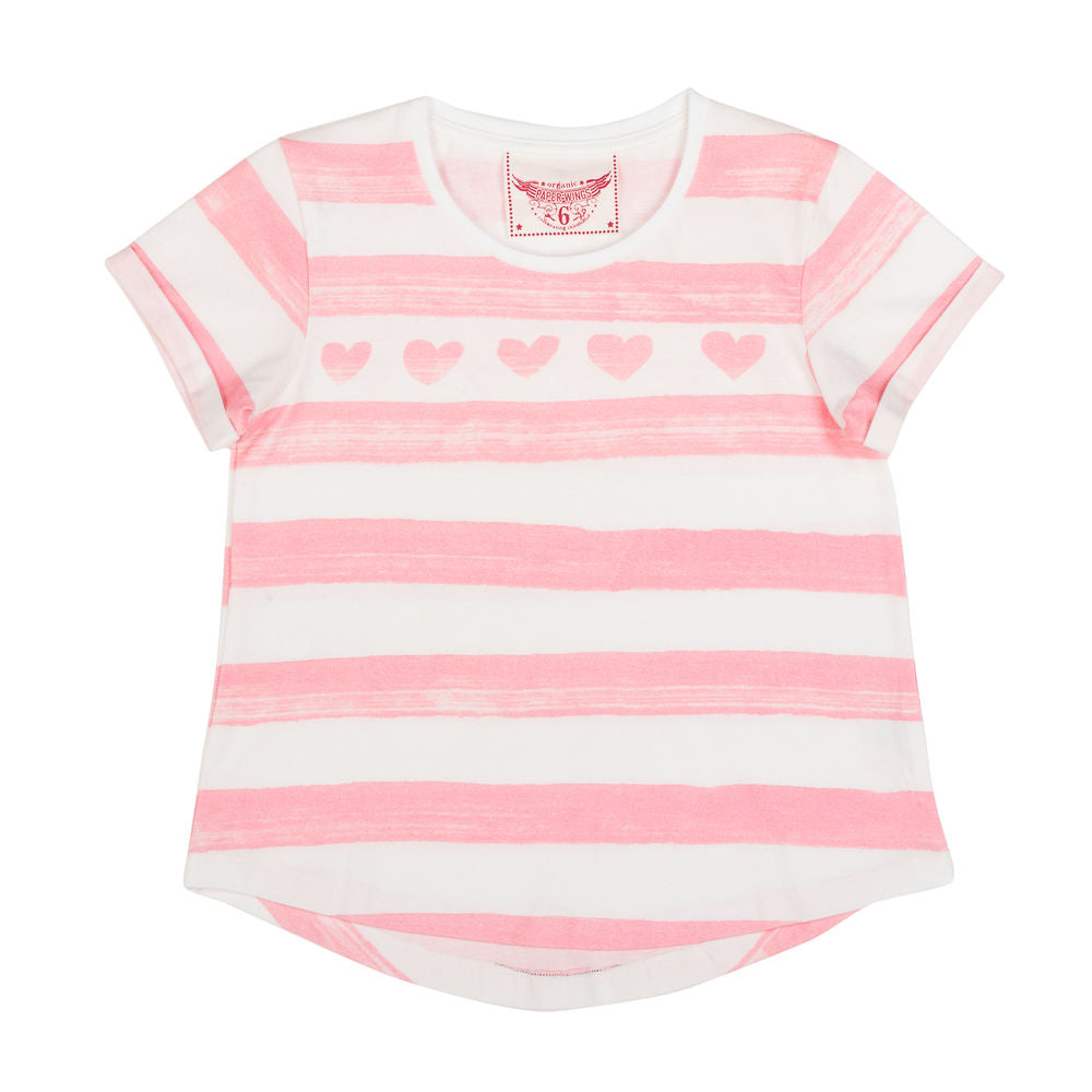 Loose Fit T-shirt - Heart Stripe