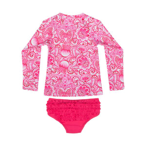 Rashie Set w/ Frilled Briefs - Eastern Butterfly