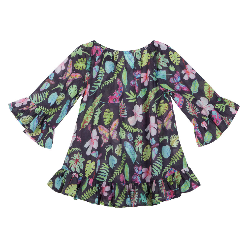 Frilled Cover Up - Tropical