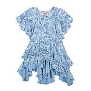 Flared Sleeve Frilled Dress - Eastern Butterfly