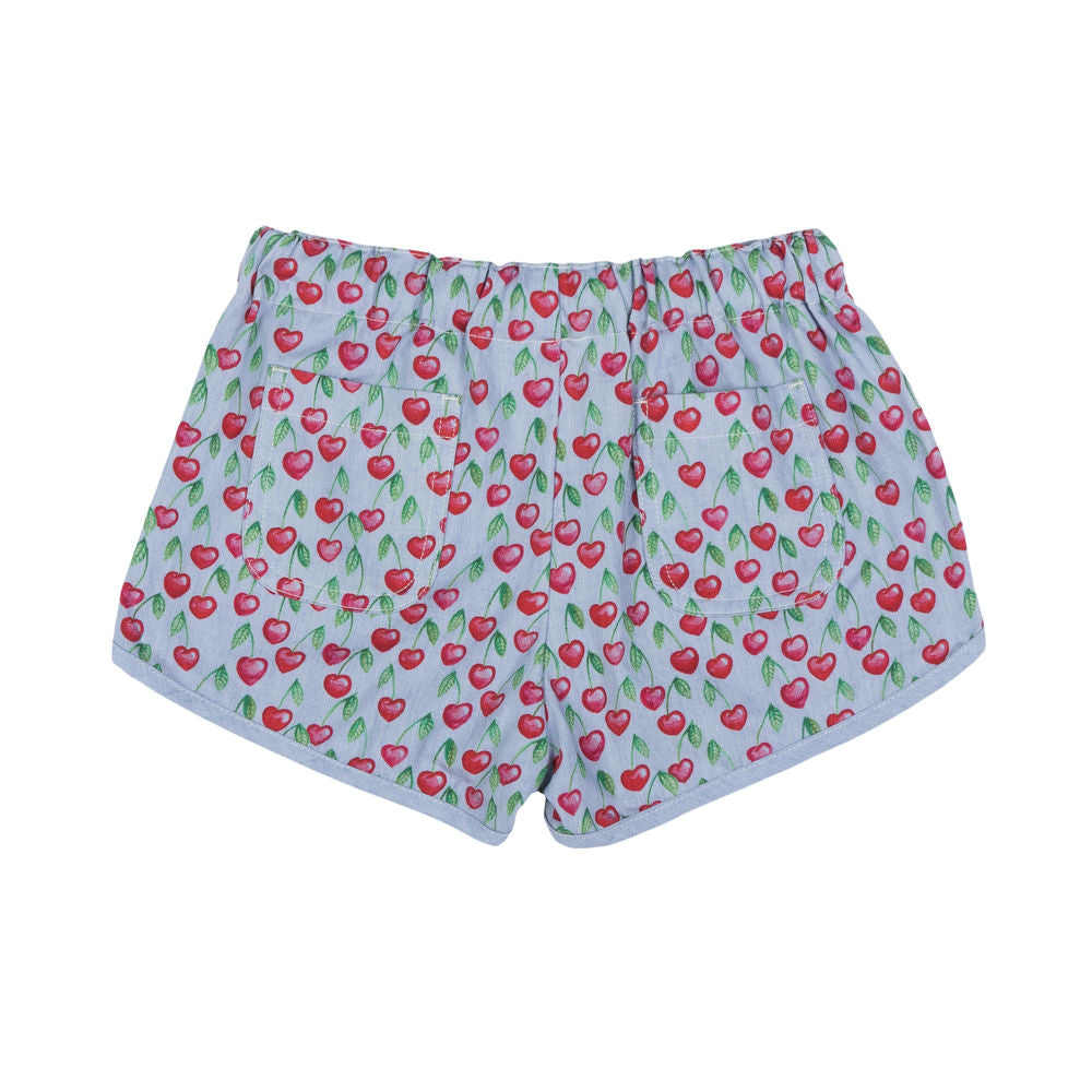 Retro Shorts - Heart Cherries