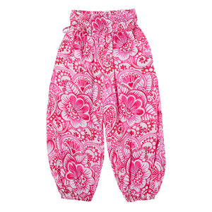 Shirred Harem Pants - Eastern Butterfly