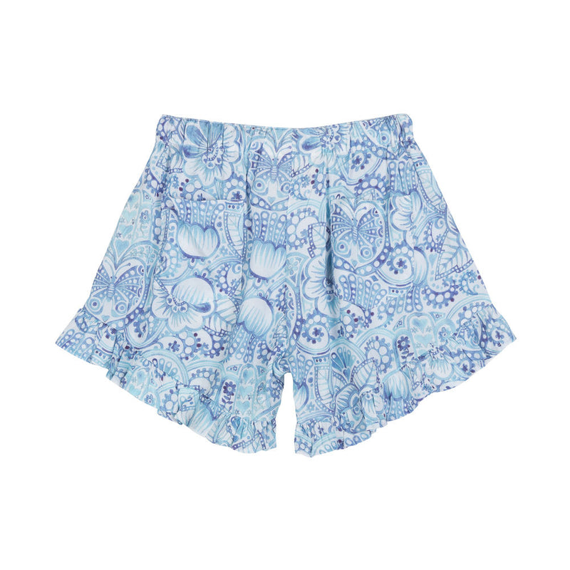 High Waisted Frilled Shorts - Eastern Butterfly