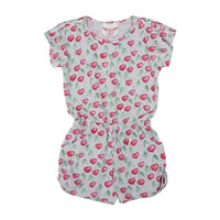 T-shirt Romper - Heart Cherries