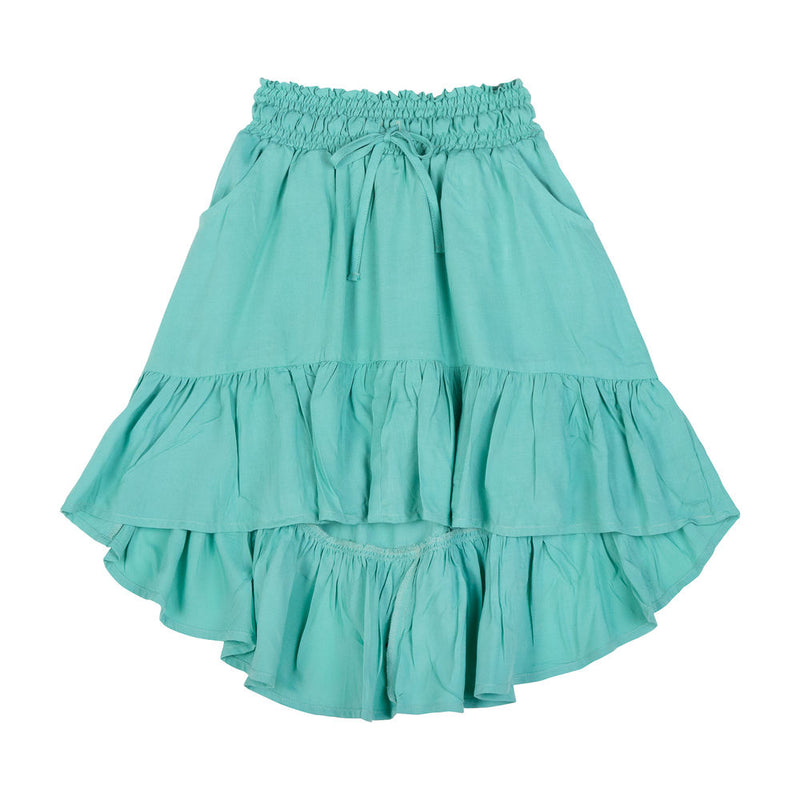 Shirred Bustle Skirt
