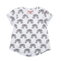 Loose Fit T-shirt - Elephants