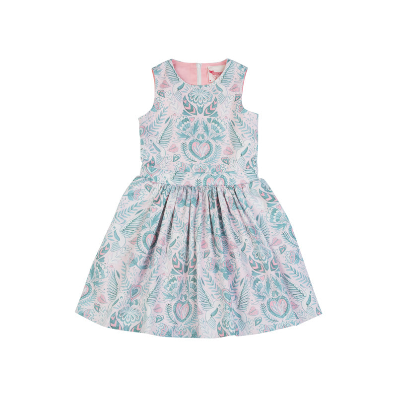 50's Dress - Birds and Flowers