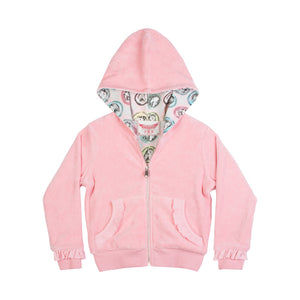 Frilled Reversible Hoodie - Horse Cameo