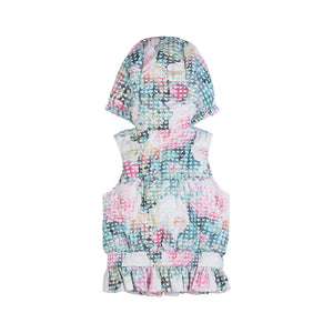 Frilled Puffer Vest - Hearts and Roses