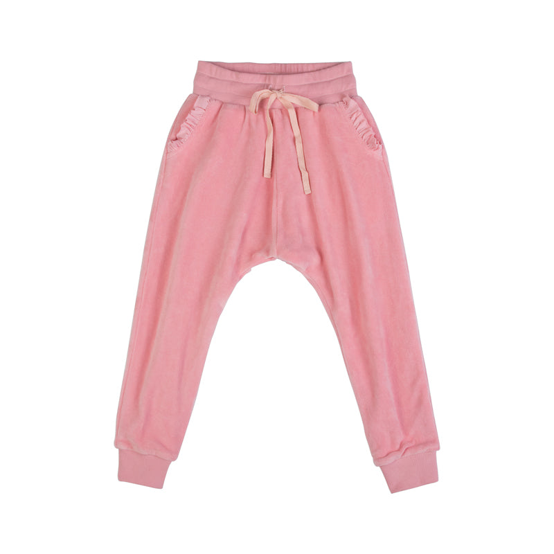 Lined Velour Trackies - Horse Cameo