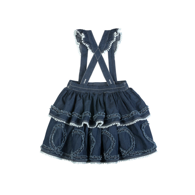 Frilled Skirt with Braces