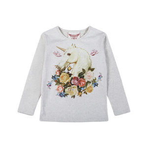 Classic Fitted T-shirt - Rose Unicorn