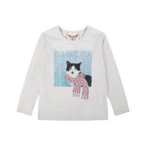 Classic Fitted T-shirt - Winter Kitty