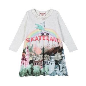 Gathered T-Shirt Dress - Skateland
