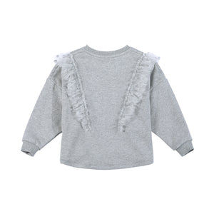 Frilled Sweater - Spot Mesh