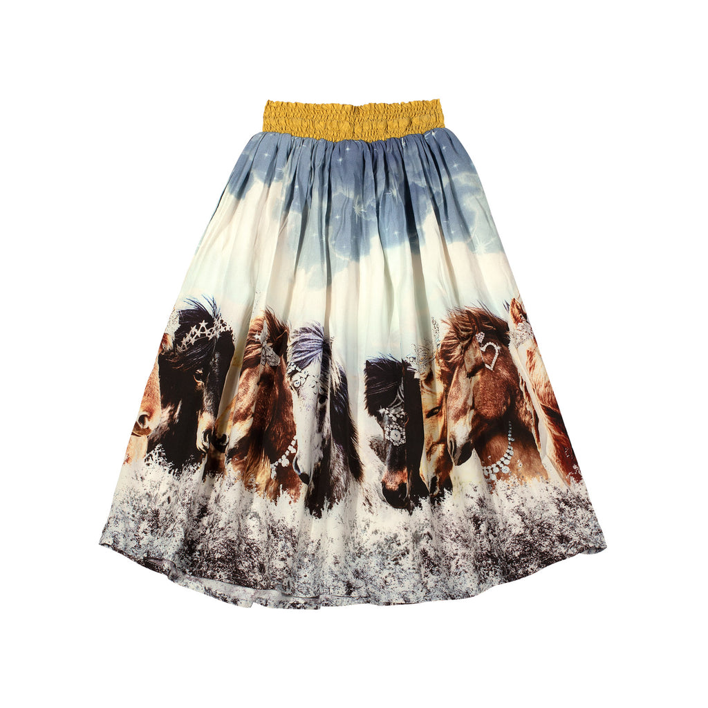 Shirred Skirt Arctic Bling