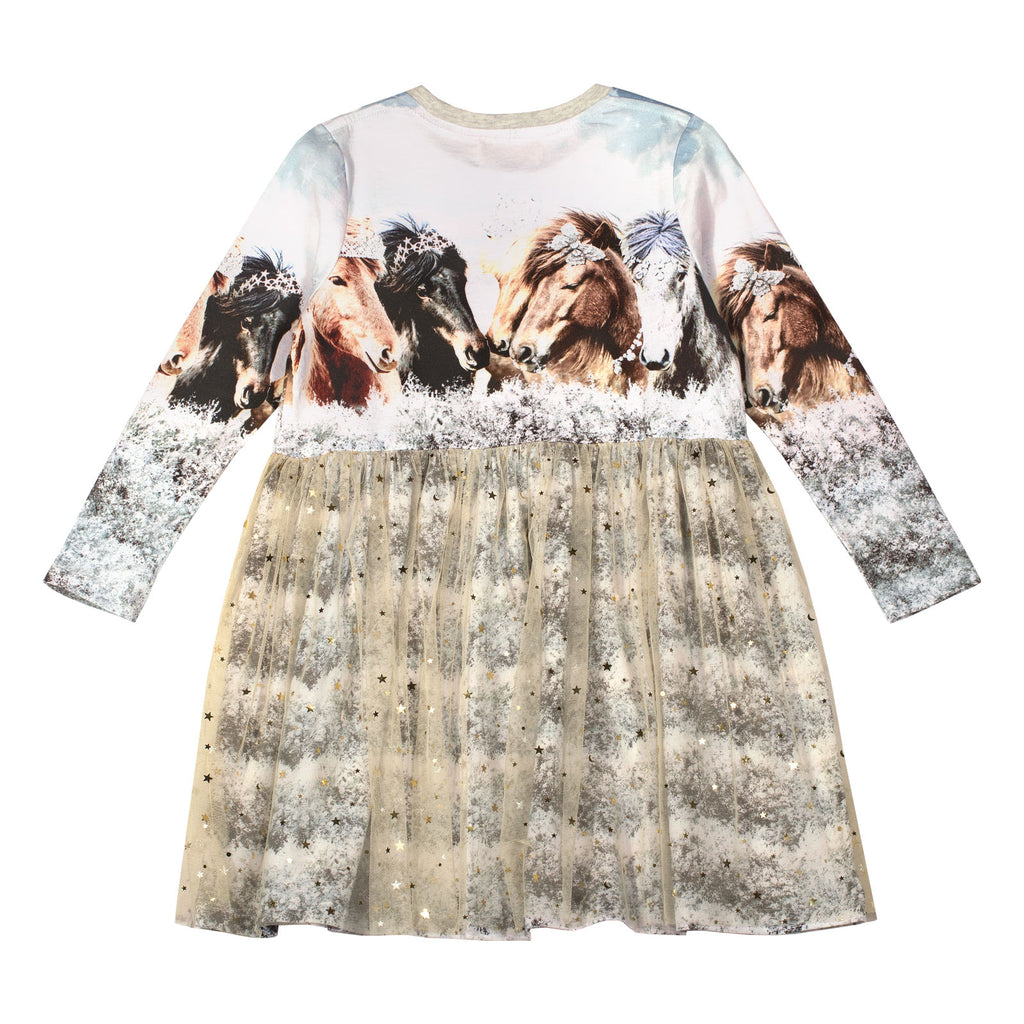 Gathered T-shirt Dress - Arctic Bling