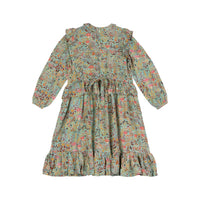 Vintage Smock Dress - Winter Field