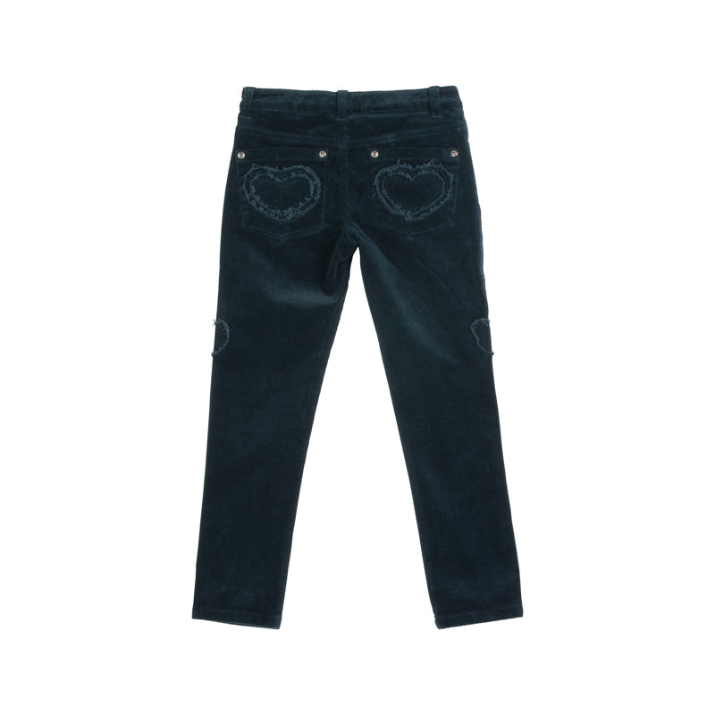 Applique Cord Jeans