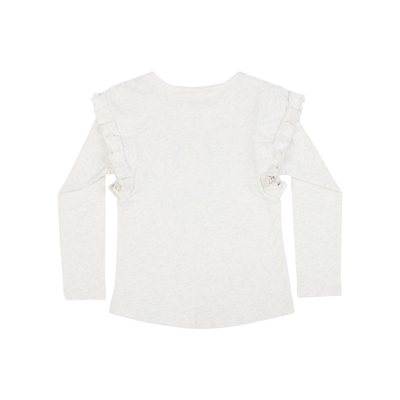 Frilled T-Shirt - Heart Bunny