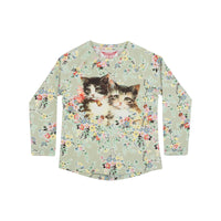 Raglan Long Sleeve T-Shirt - Vintage Rosie Cats