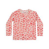 Classic Long Sleeve T-Shirt - Watercolor Hearts