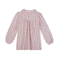 Smock Top - Pink Flower Field
