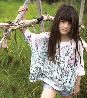 Oversized T-shirt - Garden Fairies