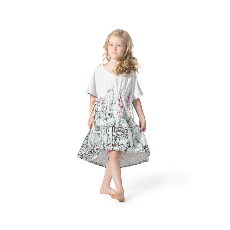 Jersey Smock with Ties - Garden Fairies