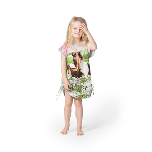 Drawstring Tee Dress - Unicorn Dreaming