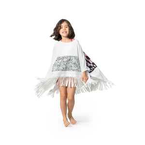 Fringed Beach Poncho - Butterfly Wings