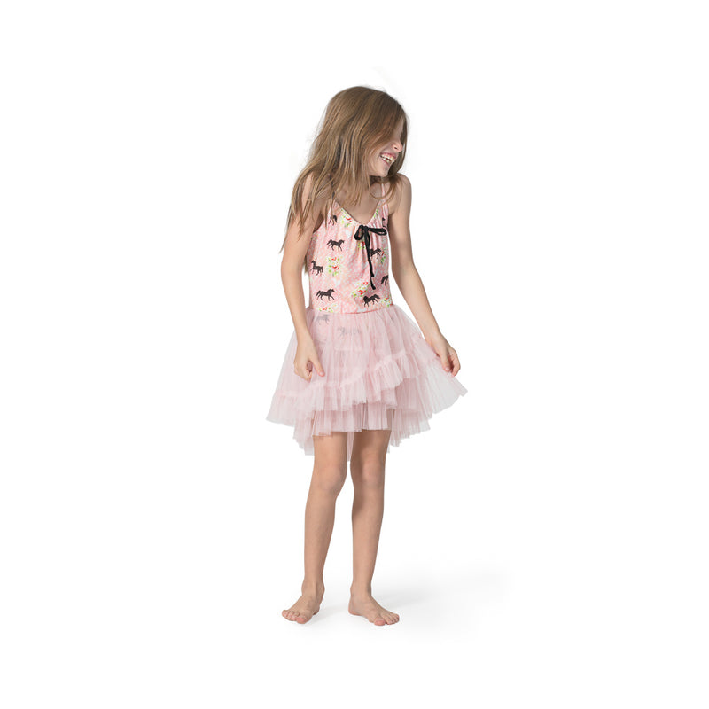 Leotard w/ Layered Frill Skirt - Spring Horse