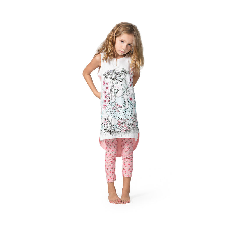 Jersey Singlet Dress - Garden Fairies