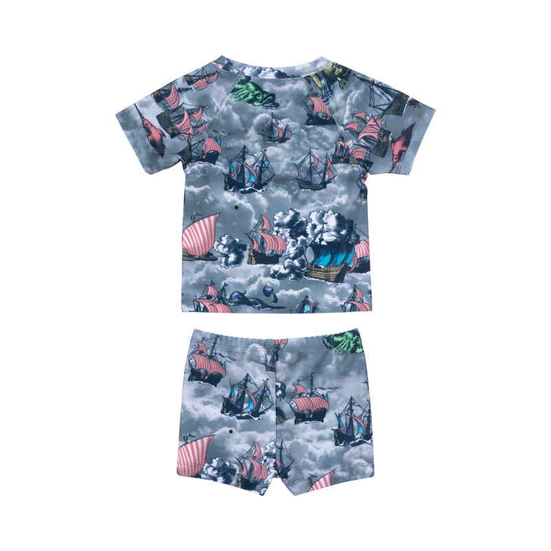 Short Sleeve Rashie Set - Sailing High