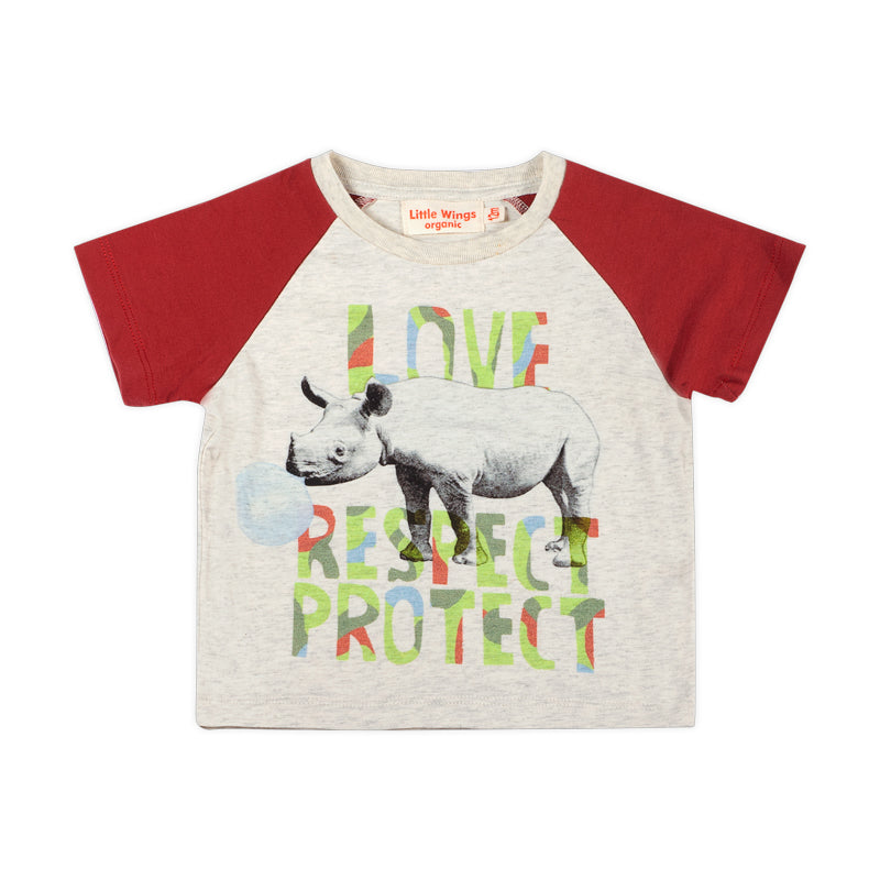 Raglan T-shirt - Love Respect Protect