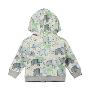 Light Weight Hoodie - Elephants