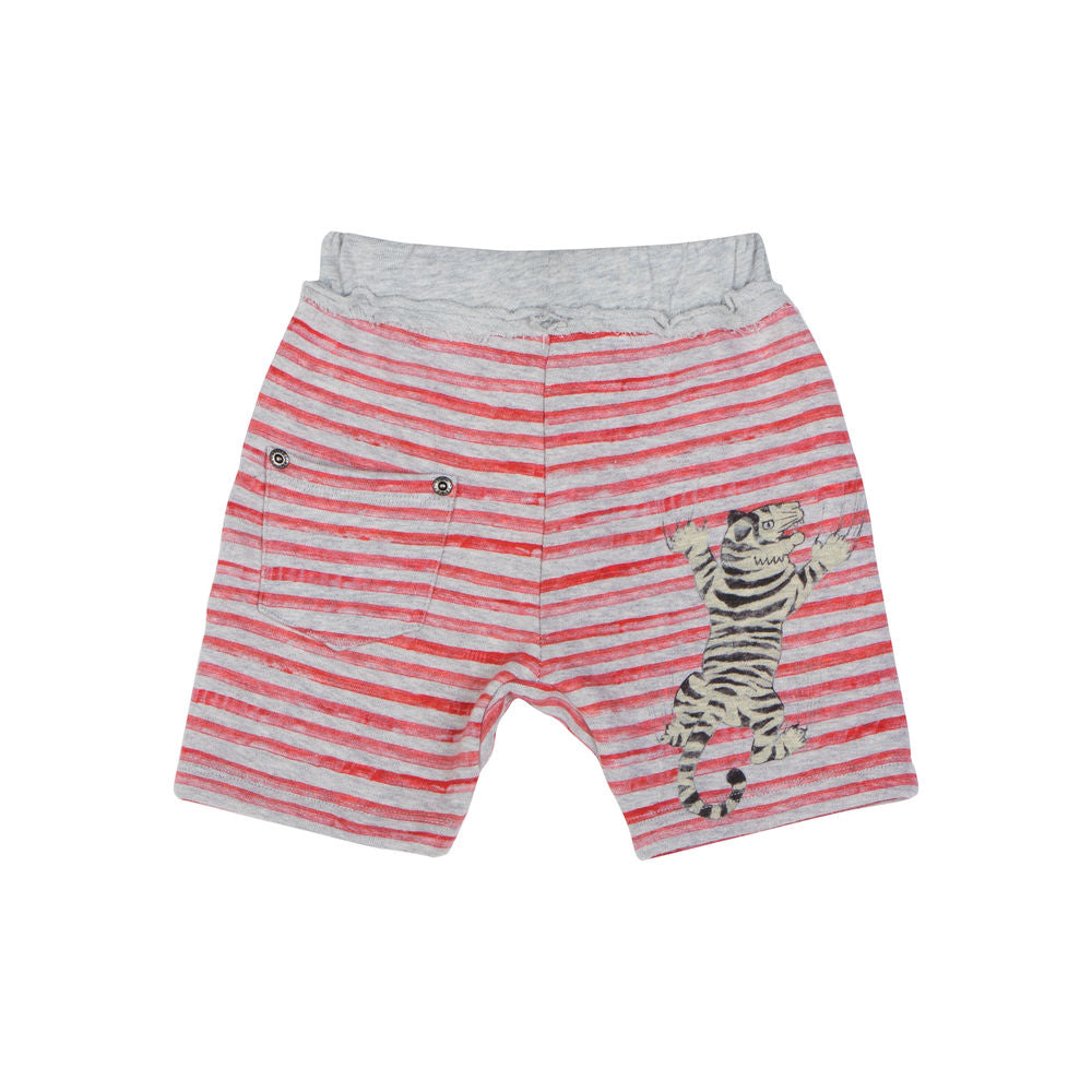 Pocket Trackie Shorts - Tiger Stripe
