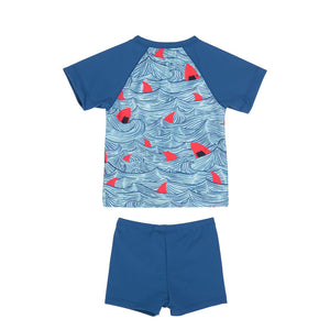 Short Sleeve Rashie Set - Sharks Red