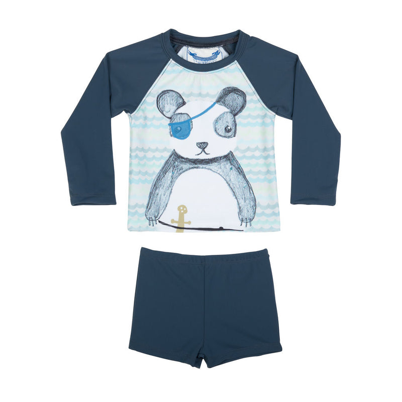 Long Sleeve Rashie Set - Pirate Panda