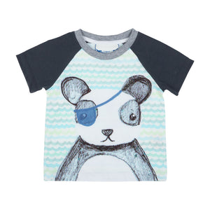 Raglan T-shirt - Pirate Panda